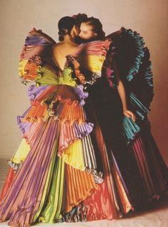 Roberto Capucci gowns, 1985 photographed by Fiorenzo Nicolli