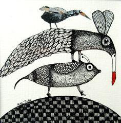 ART 2019 INK Drawings : Toutes les photos ART 2019 INK Drawings - Elke Trittel Art : Ink drawings in black and white Animal Paintings, Animal Drawings, Ink Drawings, Surrealism Drawing, Lapin Art, Contemporary Printmaking, Art Et Nature, Art Fantaisiste, Creation Art