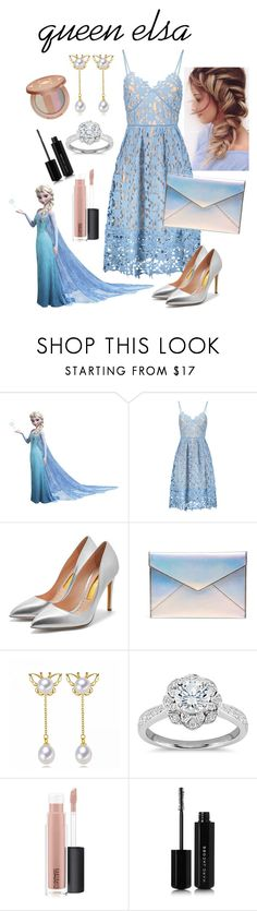"""""""queen elsa/ updo challenge"""" by beautytime101 ❤ liked on Polyvore featuring RoomMates Decor, Rupert Sanderson, Rebecca Minkoff, Zac Posen, MAC Cosmetics, Marc Jacobs and tarte"""