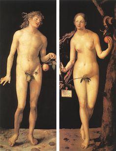 Daily artworks: Albrecht Dürer (1471 - 1528) Adam and Eve (1507)