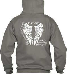 Daddy Guardian Angel Pullover Hoodie