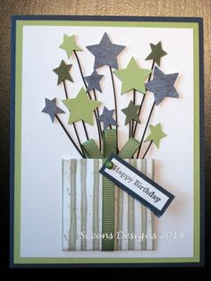 DIY Card Making - Birthday Card (no directions) Homemade Birthday Cards, Birthday Cards For Boys, Masculine Birthday Cards, Happy Birthday Cards, Homemade Cards For Men, Masculine Cards, Birthday Card Making, Birthday Greetings, Birthday Images