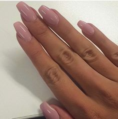 Muted pink ballet slipper nails More