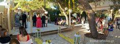 Ανοιξιάτικος γάμος και βάπτιση στο κτήμα Αριάδνη σε κίτρινο χρώμα