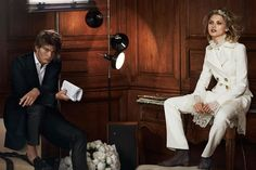 Hana Jirickova and Jordan Barrett are the stars of the Ermanno Scervino AW16 campaign, photographed by Peter Lindbergh.