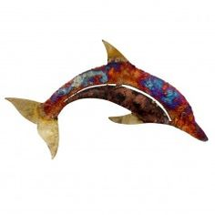 Copper Drip Extra Large Dolphin Wall Art