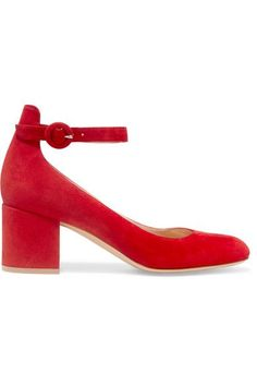 Gianvito Rossi - Suede Pumps - Red - IT37.5