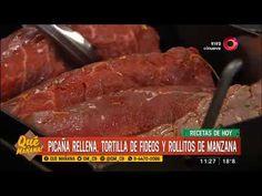 Receta dulce: Rollito de manzana y nueces Ariel Rodriguez Palacios, Relleno, Pork, Beef, Youtube, Wraps, Sweet Recipes, Food Cakes, Cooking