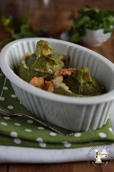 Zucchine tonde, speck e provola affumicata