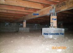 how to build a pier and beam foundation Pier And Beam Foundation, Building Foundation, Foundation Repair, House Foundation, Sas Entree, Casas Containers, A Frame House, Home Repairs, House In The Woods
