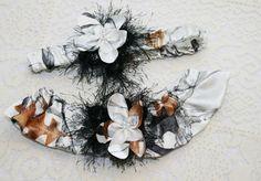 White Camo Garter Set  Camouflage Wedding Garter Set by IDoDoodads, $21.95