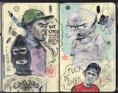 andres_guzman_tyler_the_creator_hodgy_beats_odd_future_fan_art_white_ink_illustration_moleskine.jpg (1600×1267)