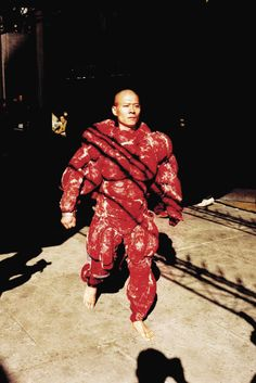 Zhang Huan, My New York #4, 2002  Performance at the Whitney Museum, NYC