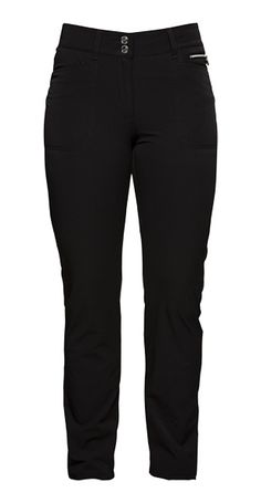 "Need new golf apparel? Daily Sports Ladies takes pride in offering women's golf clothing for all shapes and sizes. Buy this Black Daily Sports Ladies Miracle 32"" Inseam Golf Pants today from Lori's Golf Shoppe!"