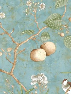 爱 Chinoiserie? 爱 home decor in chinoiserie style - pagoda shelfChinoiserie wallpaper Et Wallpaper, Chinese Wallpaper, Chinoiserie Wallpaper, Chinoiserie Chic, Fabric Wallpaper, Oriental Wallpaper, Wallpaper Samples, Design Floral, Motif Floral