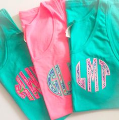 Lilly Pattern Monogrammed Tank Top from United Monograms