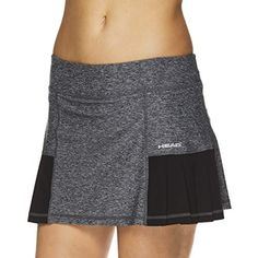 Discounted HEAD Women's Athletic Tennis Skort - Performance Training & Running Skirt - Pleated Black Heather, Small #HEADWomen'sAthleticTennisSkort-PerformanceTraining&RunningSkirt-PleatedBlackHeather #Small