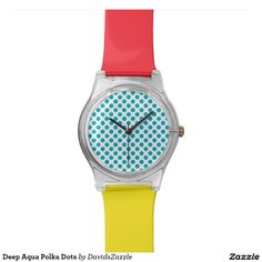 Deep Aqua Polka Dots Watch Available on many products! Hit the 'available on' tab near the product description to see them all! Thanks for looking!     @zazzle #art #polka #dots #shop #chic #modern #style #circle #round #fun #neat #cool #buy #sale #shopping #men #women #sweet #awesome #look #accent #fashion #clothes #apparel #earrings #headband #sunglasses #ties #belts #fingernail #black #white #color #blue #orange #green #yellow #purple #violet #lilac #aqua #light #dark #pink #red