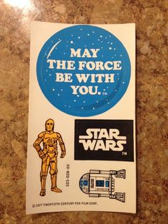#starwars sticker sheet 1977 rare vintage stickers may the force be with you. from $20.95