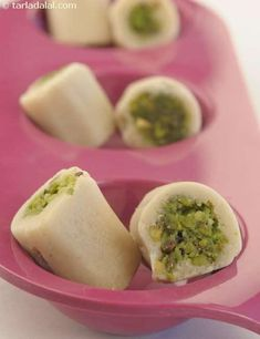 Kaju Pista Roll recipe | Mithai Recipes | by Tarla Dalal | Tarladalal.com | #2014