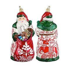 Bratislava Folk Art Santa Ornament - Frontgate