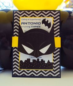 Hey, I found this really awesome Etsy listing at https://www.etsy.com/listing/205285545/batman-invitationsuperhero-invitation