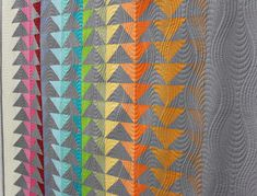 """Quilting detail of """"Fifty Shades of Geese"""" by Patricia Roche"""