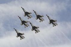 The U.S. Air Force Flight Demonstration Team, the Thunderbirds