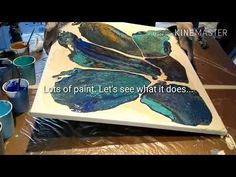 Fluid-Art: Open cup with alcohol technique.. and how to never give up on a painting. Just keep it mo - YouTube