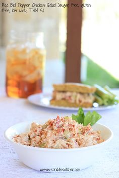 THM Chicken salad is an S- serve on sprouted wheat bread for a yummy crossover!