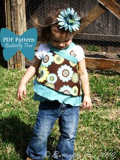 Butterfly Wrap PDF Sewing Pattern - Skirt, Shirt, or Dress