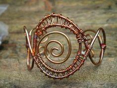 Spiral copper cuff bracelet