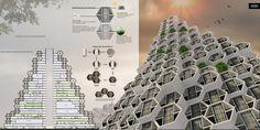 Honeycomb Refugee Skyscraper