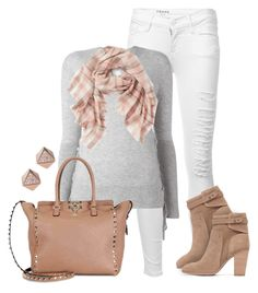 """#610 - Neutrals"" by lilmissmegan ❤ liked on Polyvore featuring Frame, RtA, Valentino, Vince Camuto and FOSSIL"