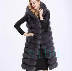 e4767ea41481e Winter Women Faux Fur Waistcoat Short Vest Gilet Jacket Coat Outerwear  Brown W91