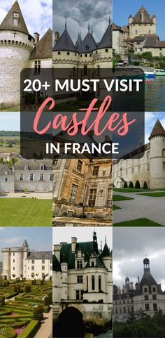Looking for the best castles in France? Among the hundreds of French chateaux you can visit, this list lays out the most beautiful and most magical of all. Travel in France, French castles, things to do in France, travel guide F Backpacking Europe, Europe Travel Tips, European Travel, Travel Advice, Travel Guides, European Vacation, Travel Hacks, Best Vacation Destinations, Best Vacations