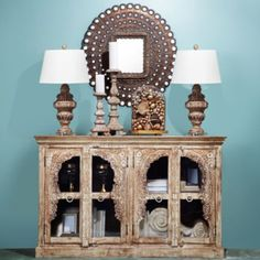 Flora Cabinet from Z Gallerie. Got a steal on the floor sample & it fits perfect in my baby London's room.