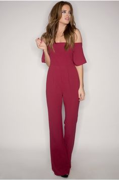 Binky Berry Off The Shoulder Jumpsuit