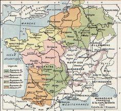Frankish territories at the time of Clovis' death, 511, Vidal-Lablache, Atlas général d'histoire et de géographie