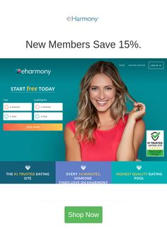New Members Save 15 In 2020 Eharmony Dating Discount Codes Coupon