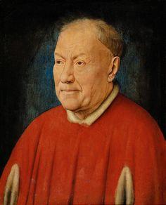 Jan van Eyck   Cardinal Niccolo Albergati.  (Vers 1431) Huile sur toile.