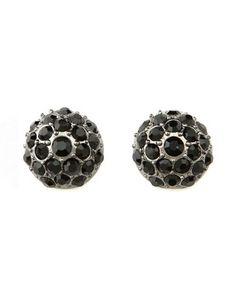 Black Diamond Stud Earrings: Charlotte Russe