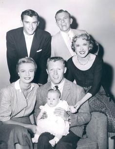 George Burns with wife Gracie Allen and their family