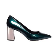 The New Party Shoes to Try Now   Charlie Contrast Heel Patent Leather Pumps