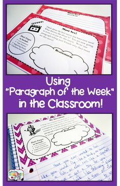 "One Stop Teacher Shop - Teaching Resources for Upper Elementary: How ""Paragraph of the Week"" Homework Improved My Students' Writing!"