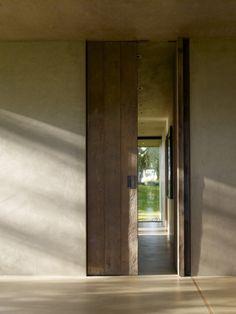 concrete stone wood and bricks - door - Interior Barn Doors, Interior And Exterior, Interior Design, Rustic Exterior, Exterior Doors, Door Design, House Design, Entrance Doors, Door Entry