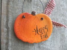 Items similar to Pumpkin Salt Dough Ornament Autumn / Fall Decoration on Etsy Pumpkin Salt Dough Ornament Autumn / Fallally could make this with her clay she bakes Autumn Crafts, Thanksgiving Crafts, Holiday Crafts, Salt Dough Projects, Salt Dough Crafts, Salt Dough Christmas Ornaments, Clay Ornaments, Cinnamon Ornaments, Homemade Ornaments