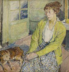 - Kobieta z psem (Portret Edith Sealy?), ok. 1917 r.