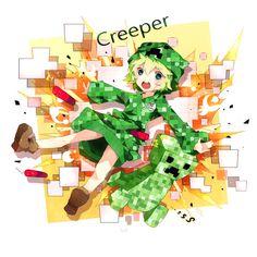 ローセプト02,anime,minecraft,creeper,explosion