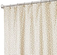 Extra Long Shower Curtain Gray Shower Curtains Unique Shower Curtains Fabric 84 Greek Key *** For more information, visit image link.